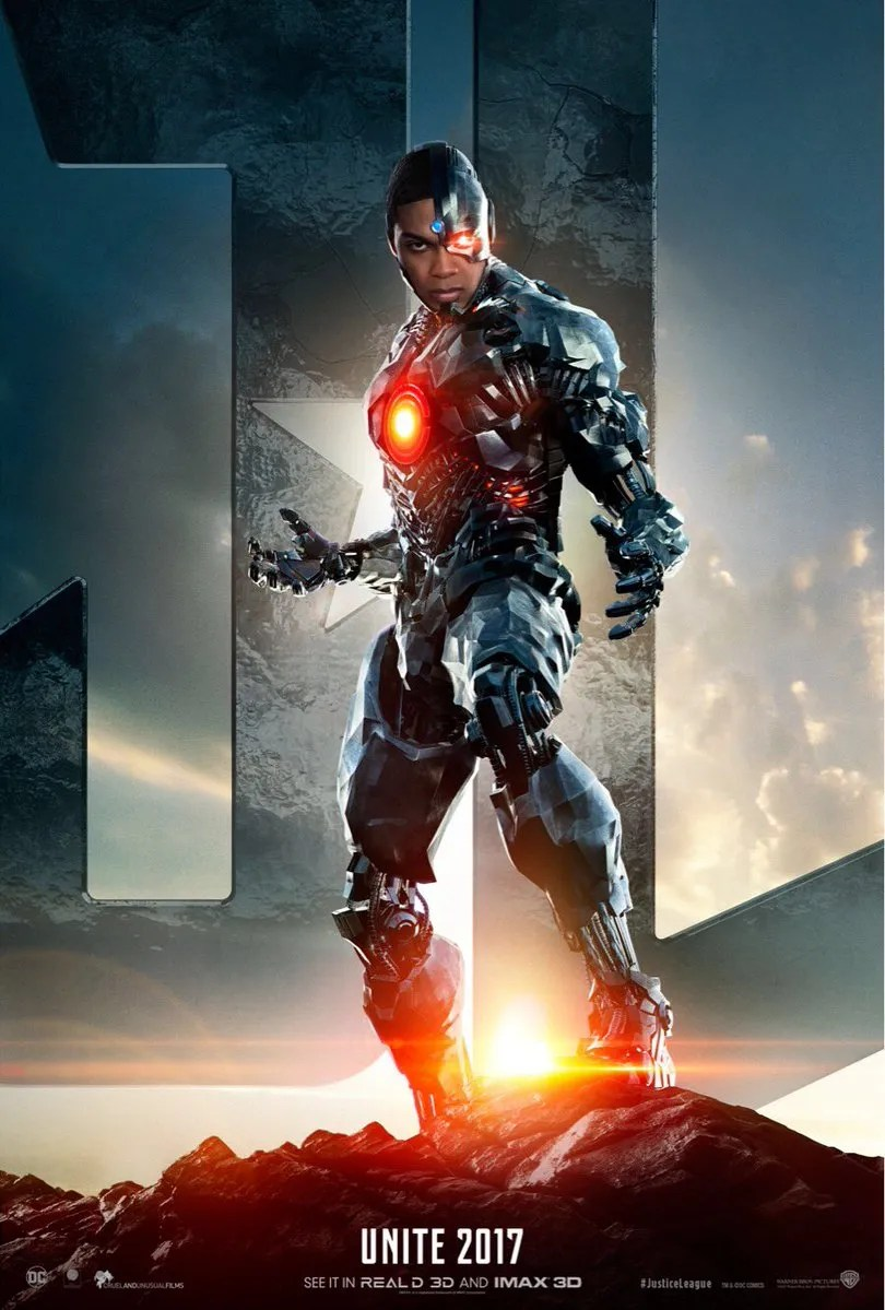 Image result for cyborg justice league poster