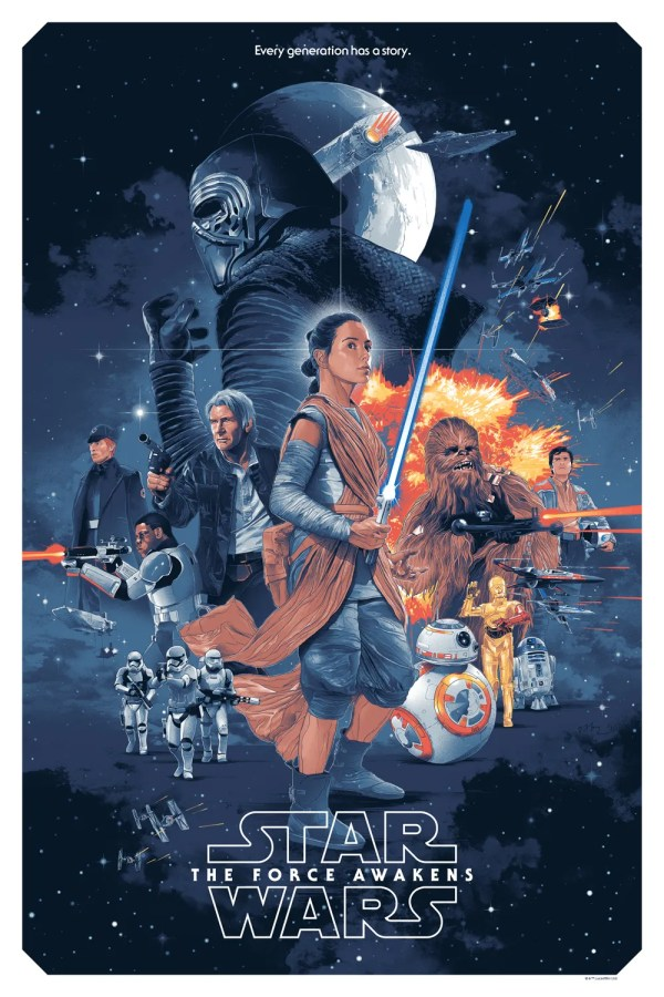 Awakens Movie Poster Star Wars Force