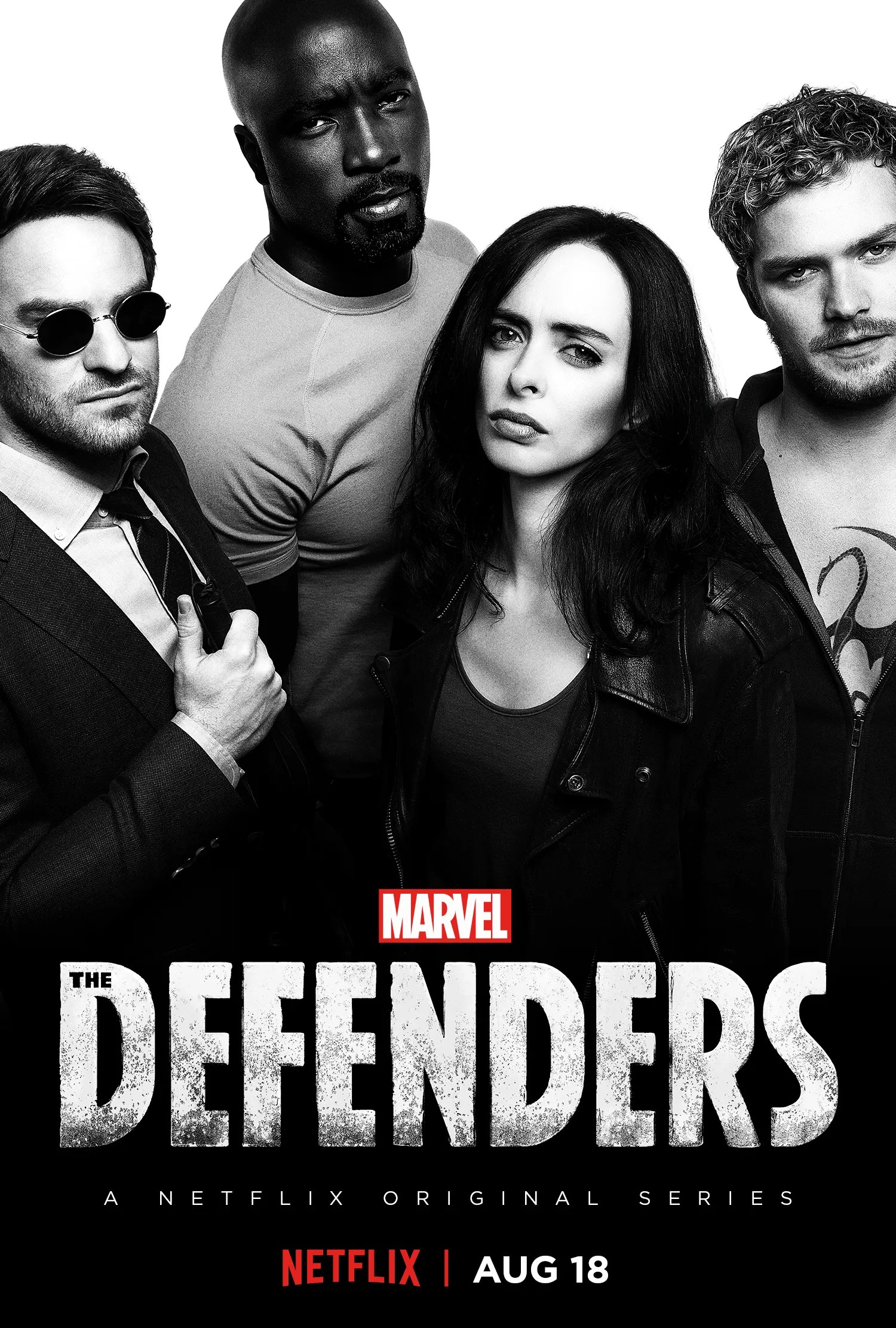 Defenders black and white poster