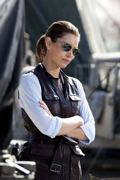 Jessica Biel as Lt. Sosa. The A-Team movie image
