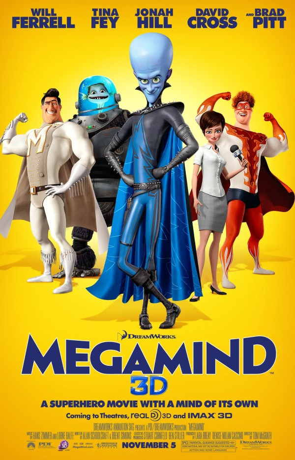 Megamind Movie Poster Unstoppable