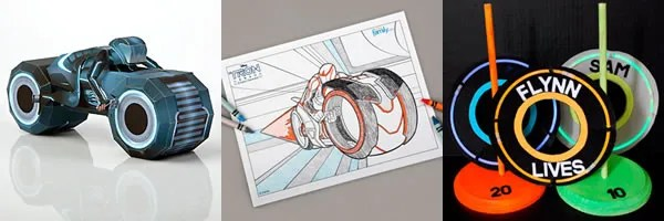 Disney Offers TRON: LEGACY Papercraft, Coloring Pages