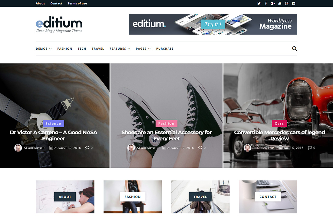 editium cars magazine wordpress temas