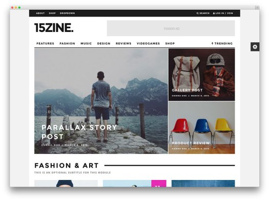 15zine multipurpose magazine theme