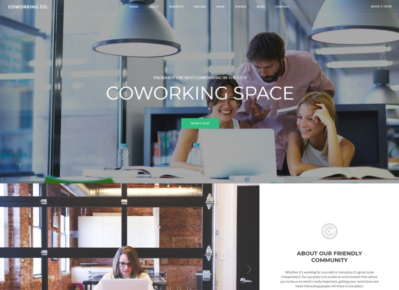 Coworking Co. | Espacio creativo tema de WordPress