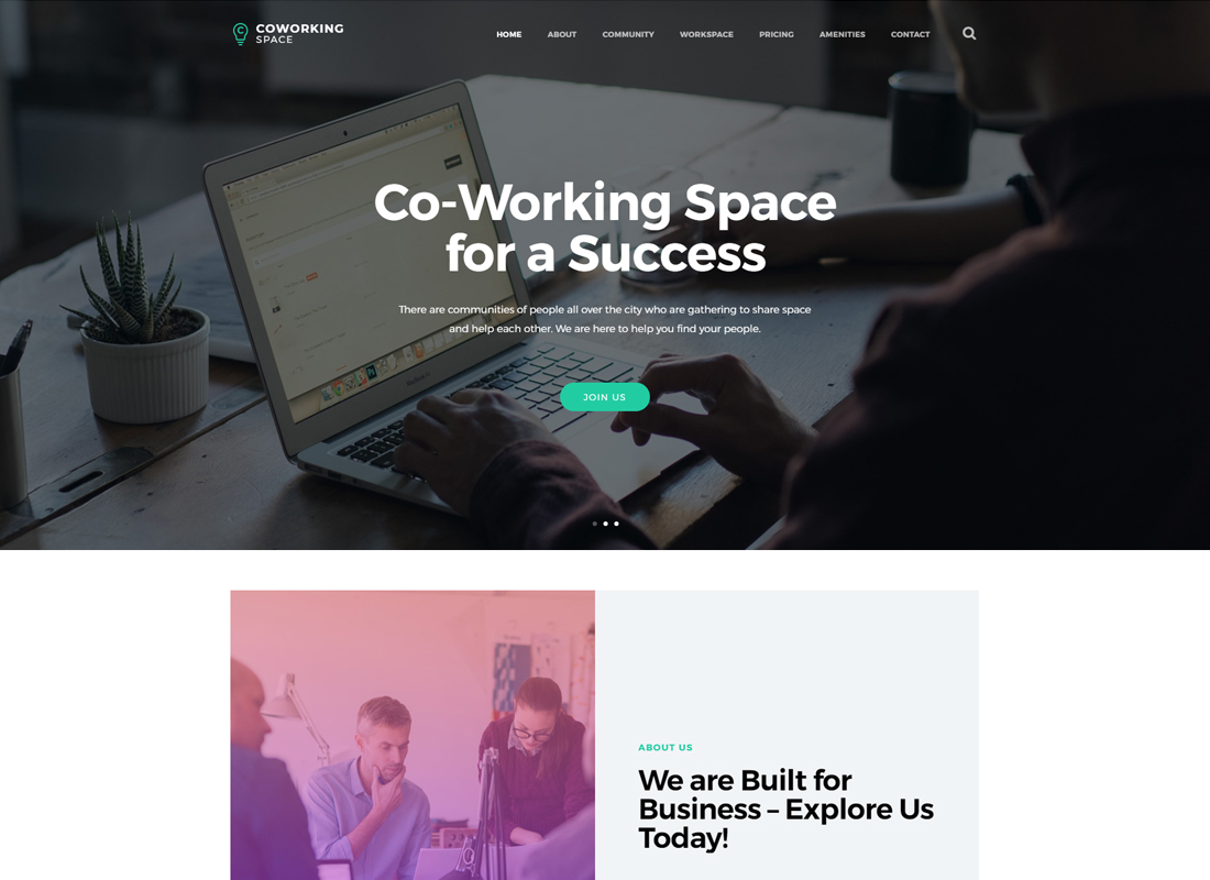 Coworking | Tema de WordPress Open Office & Creative Space