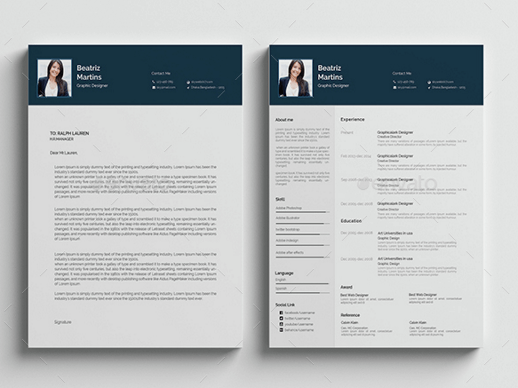 Resume Templates Illustrator Best Free Resume Templates In Psd And Ai In 2018 Colorlib