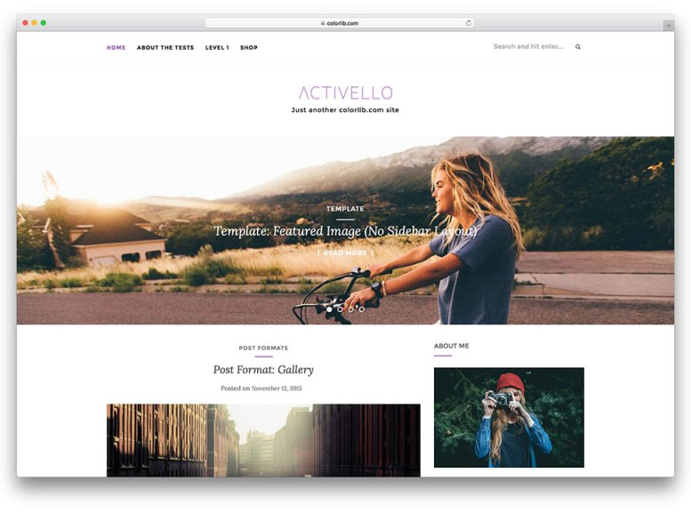 Activello free Onepage Responsive WordPress theme