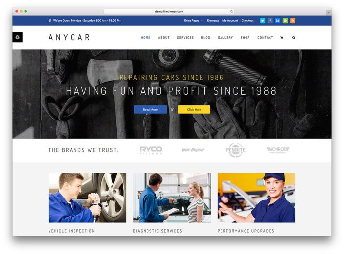 anycar-fullscreen-car-repair-theme