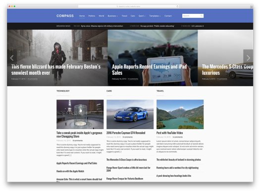 compass-minimal-magazine-style-template