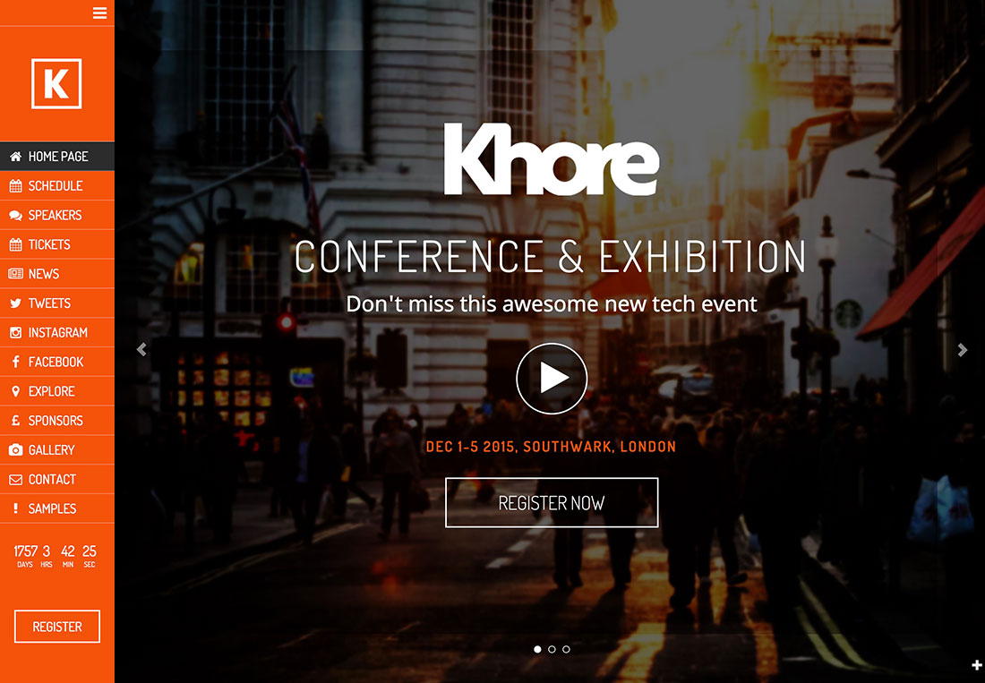 30+ Awesome Wordpress Themes For Conference And Event Management 2018