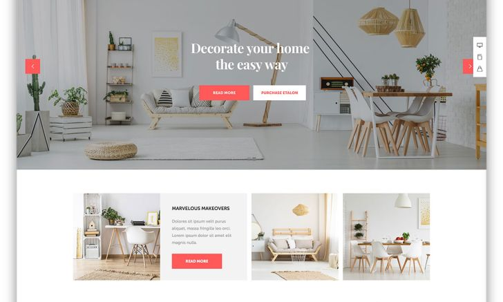 Etalon home decor wordpress website template full hd best interior design website for kids computer pics themes