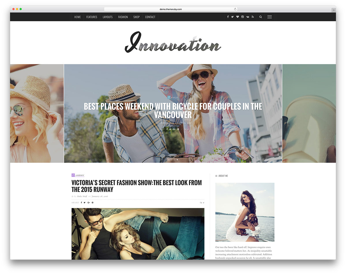 Fashion Blogger Resume Sample 37 Best Fashion Blog Magazine Wordpress Themes 2018 Colorlib