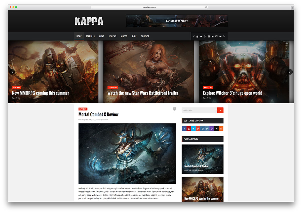 kappa-simple-gaming-blog-theme