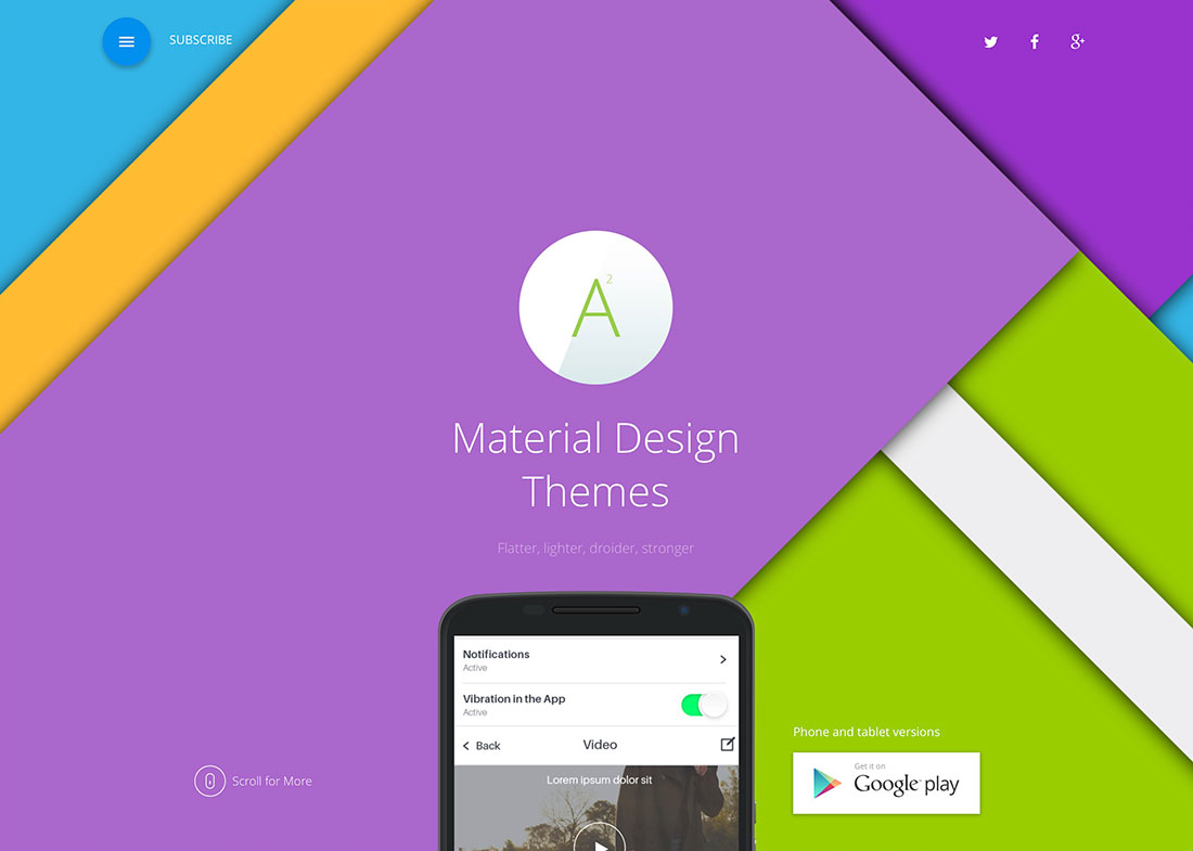15 Awesome Wordpress Material Design Themes For Landing Pages, Corporate  Websites And Blogs – 2018
