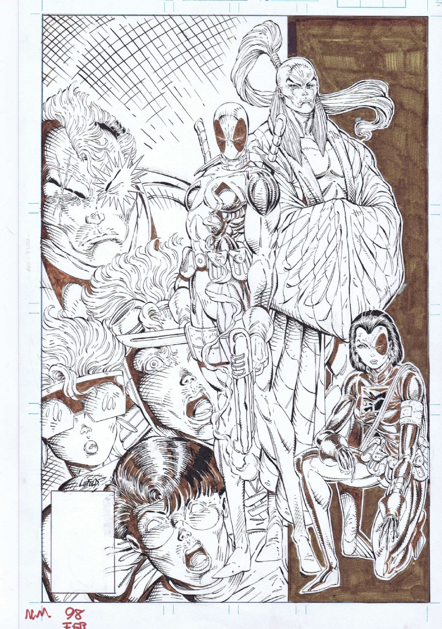 New Mutants #98 cover by Rob Liefeld
