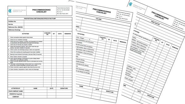 Pre-Commissioning Checklist now online! Free download!