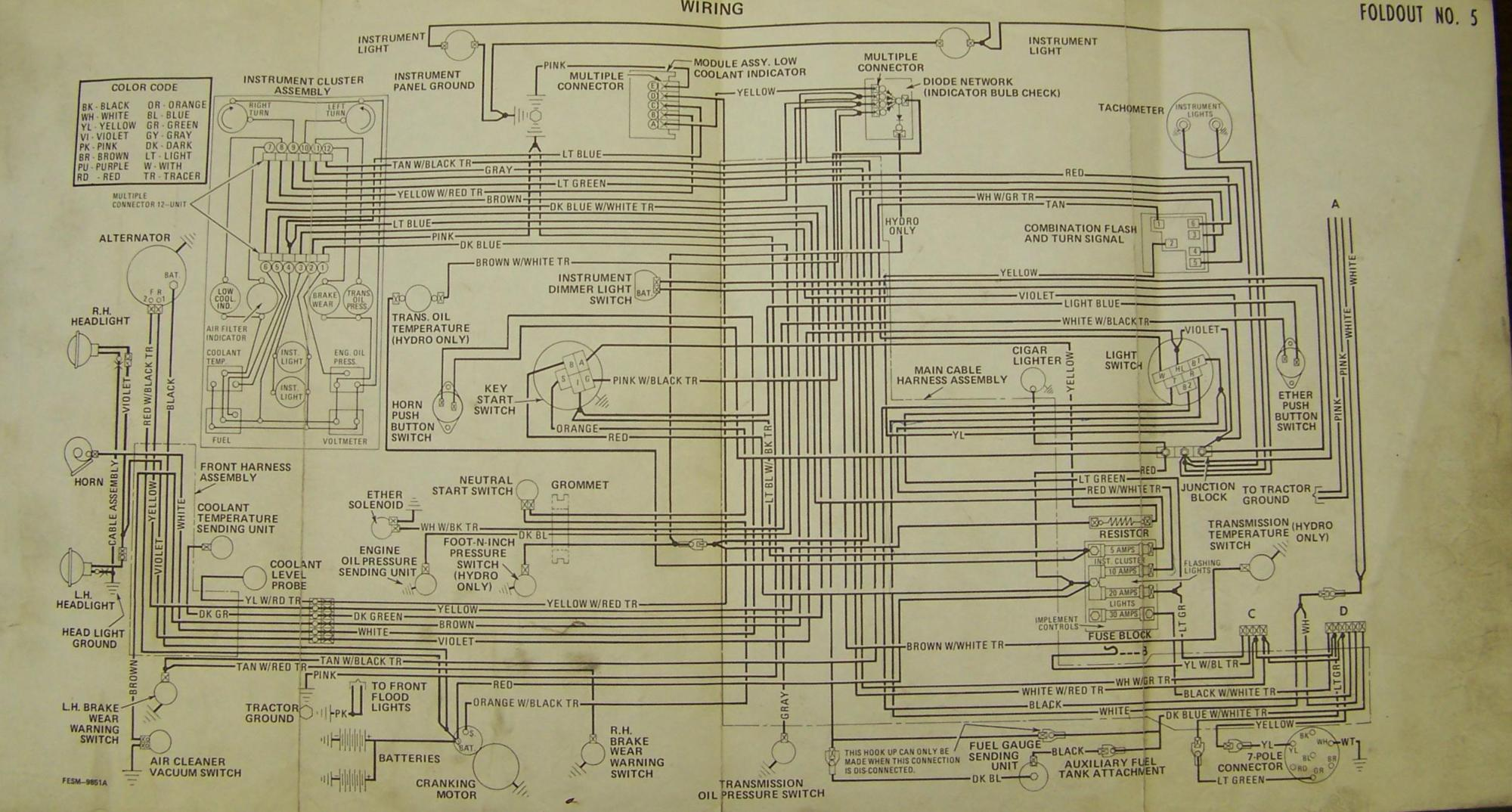 hight resolution of carter gruenewald co inc ih farmall tractor electrical wiring international 3600 backhoe international harvester backhoe 2500 wiring schematic