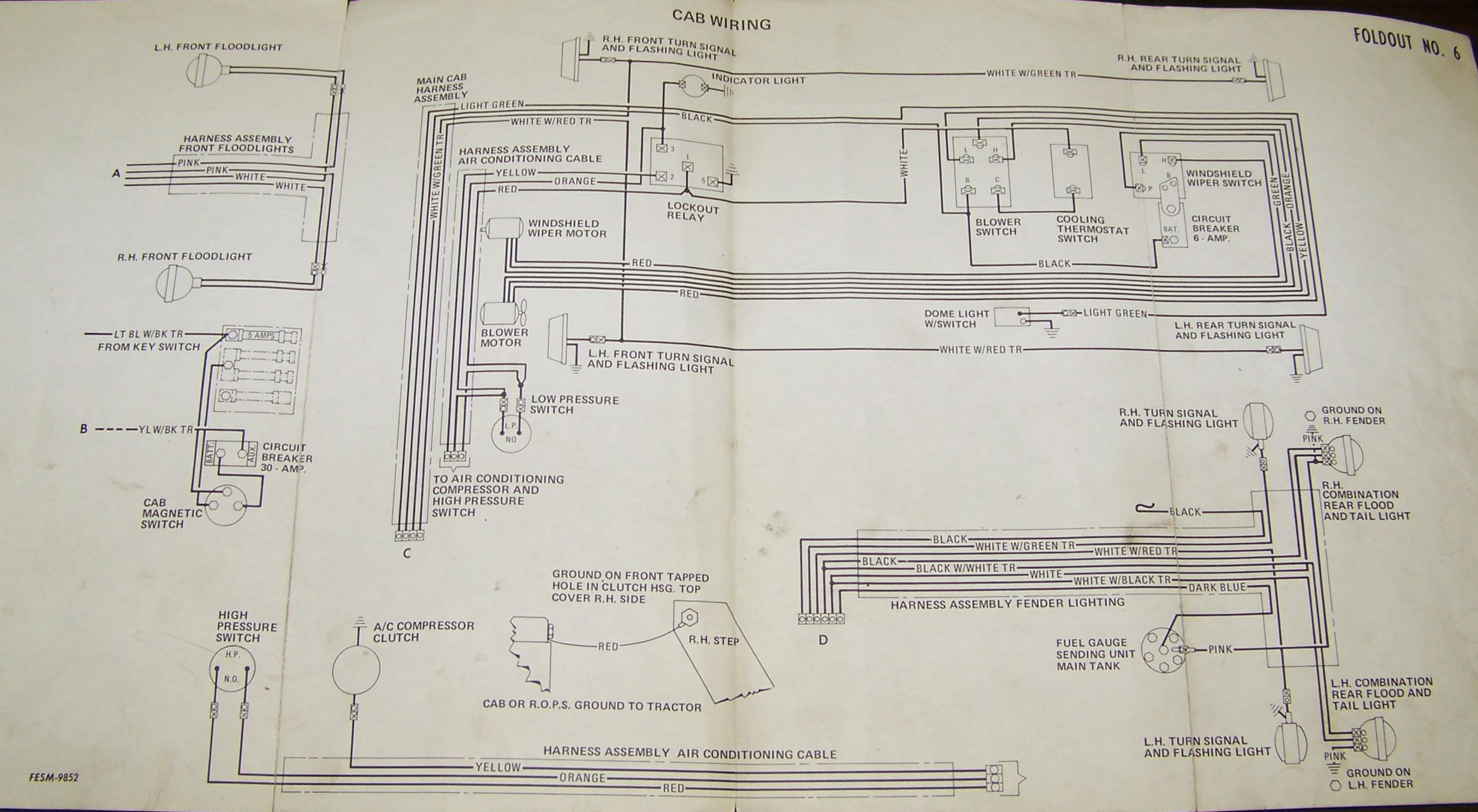 international tractor 674 wiring diagram swimming pool filter system carter gruenewald co inc ih farmall electrical 86 series foldout 5