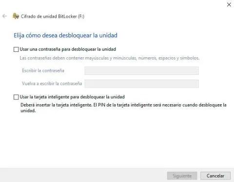 Cifrar disco con BitLocker