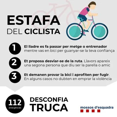 Estafa del ciclista