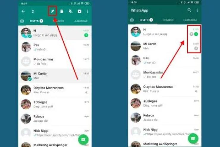 Cómo fijar conversaciones en WhatsApp tanto en Android como en iPhone