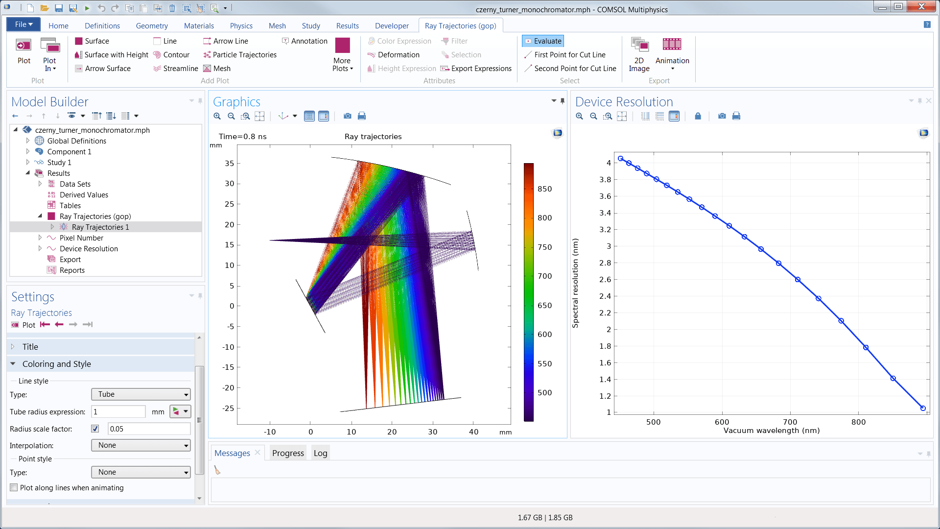 mirror ray diagram simulation volvo v70 wiring 1999 modeling software for tracing in optically large systems an image of the comsol multiphysics gui with a czerny turner spectrometer model open