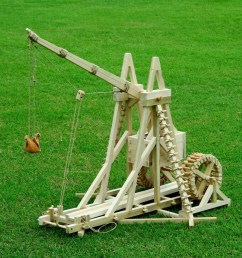 a photo of a war wolf trebuchet replica  [ 1000 x 863 Pixel ]