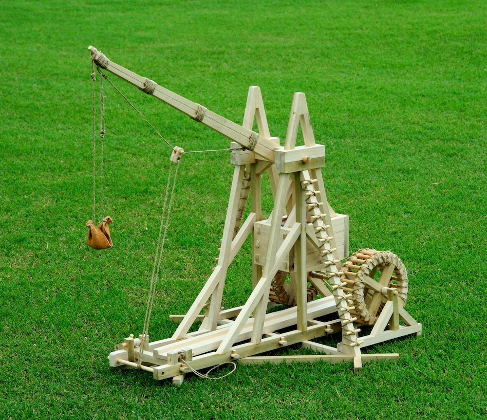 medium resolution of a photo of a war wolf trebuchet replica
