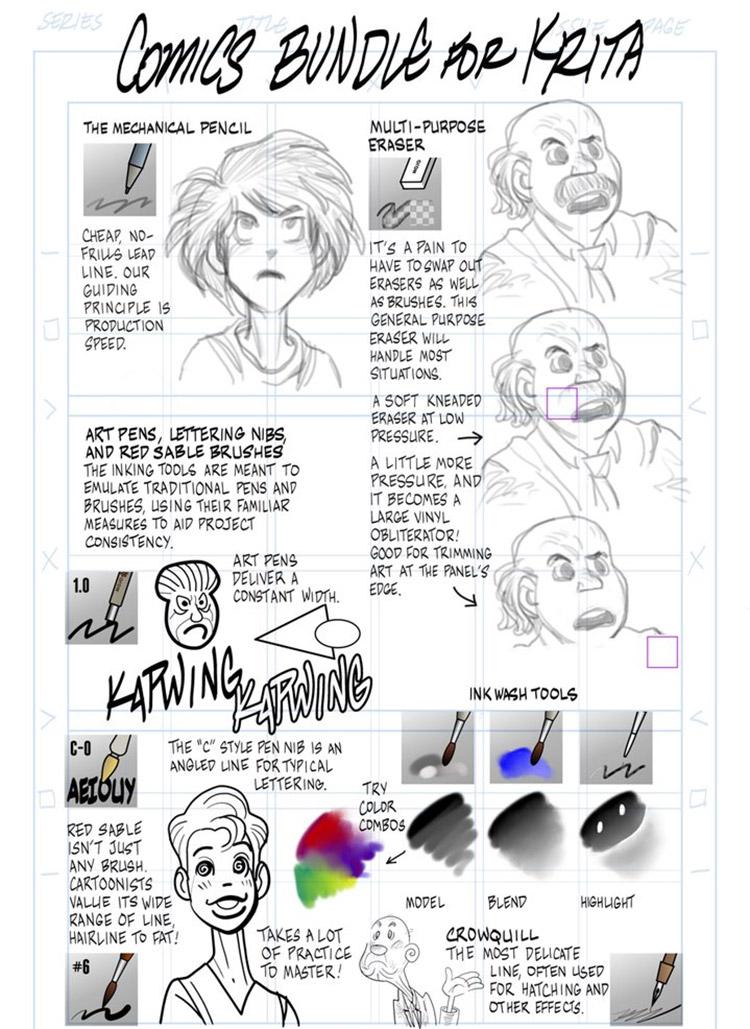 15+ Free Krita Brushes & Brush Packs For Digital Artists