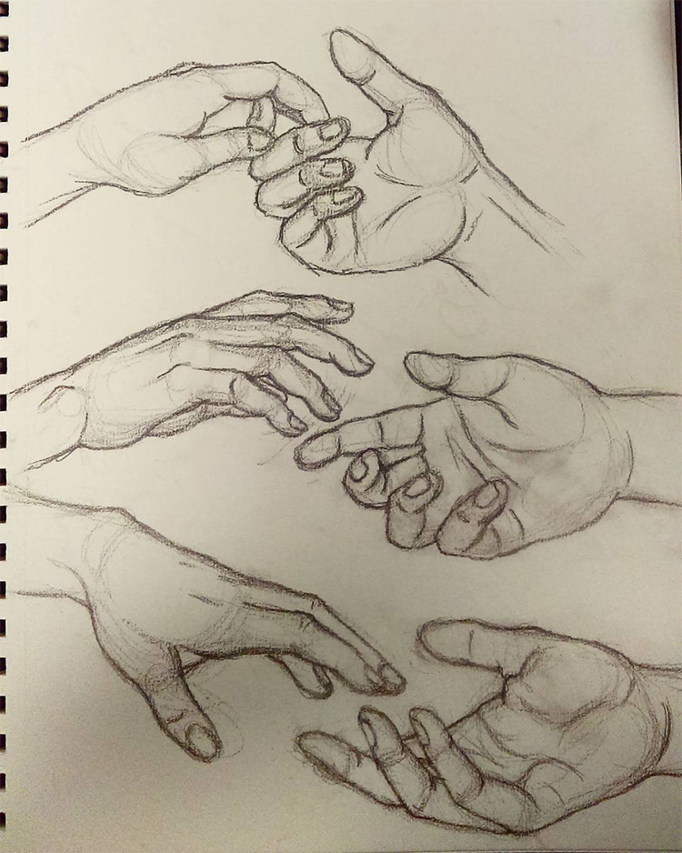 How To Draw A Hand Holding Something : holding, something, Drawings, Hands:, Quick, Sketches, Studies