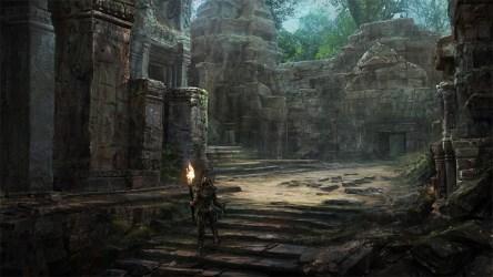 concept medieval crypts james artstation temple ruins fantasy mayan down wall garden interior landscape into artwork