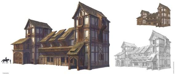 Medieval House Concept Art