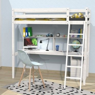 lit mezzanine studio 90x190 1 sommier