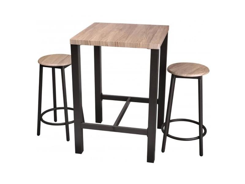 table haute avec tabourets chicago