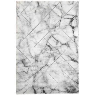 marble tapis de salon style marbre et joints gris acier 80 x 150 cm effet relief k92087256