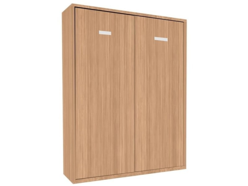 armoire lit escamotable smart kart chene couchage 160 200cm 20100864568 vente de armoire conforama