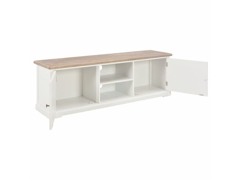vidaxl meuble tv blanc 120 x 30 x 40 cm bois