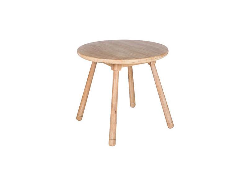 table ronde pour enfant 55 cm en bois naturel rabb
