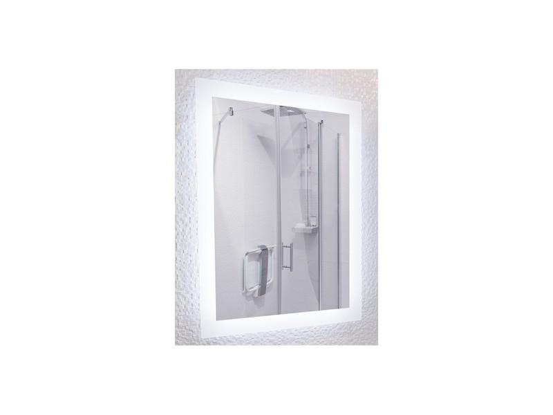 Miroir De Salle De Bains Avec Eclairage Led Modele 60 80 Cm X 60 Cm Hxl Vente De Pradel Premium Conforama