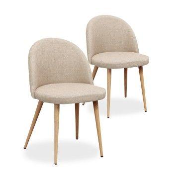 lot de 2 chaises scandinaves cecilia