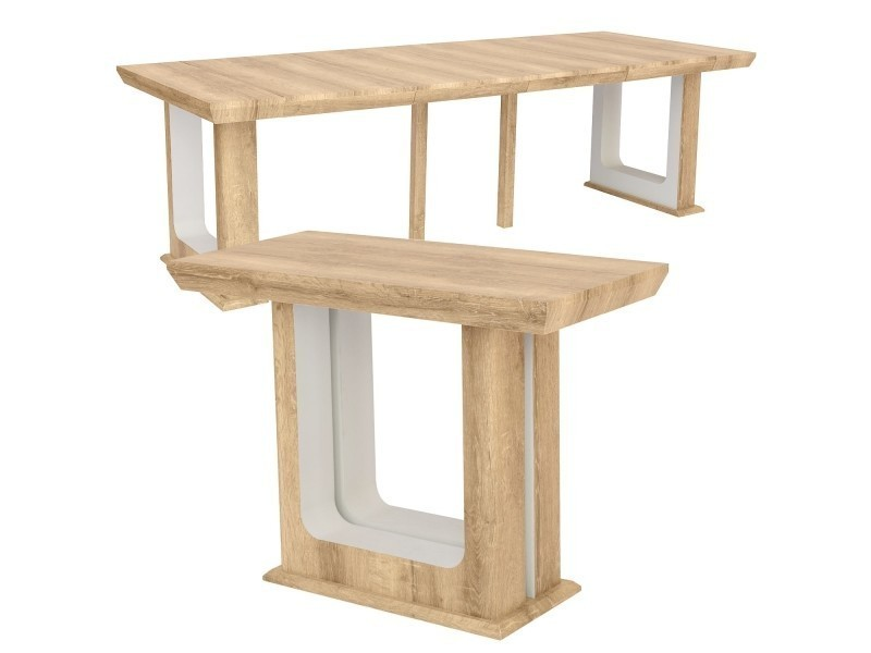 table console extensible 250cm houston chene vieilli