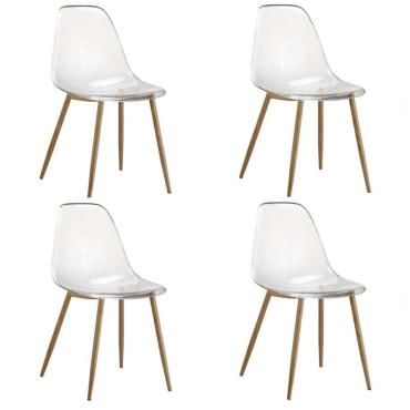 4 chaises design scandinave osana