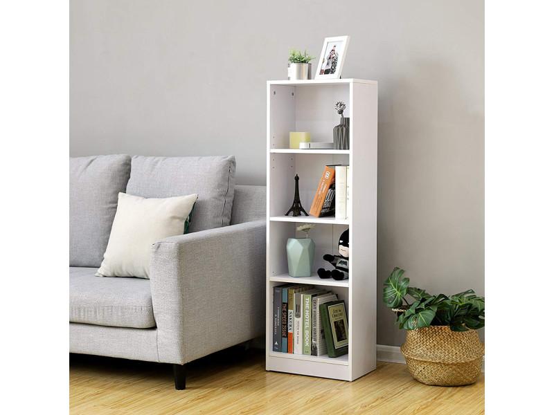 etagere bibliotheque acacion 40 cm 4 etageres minimaliste