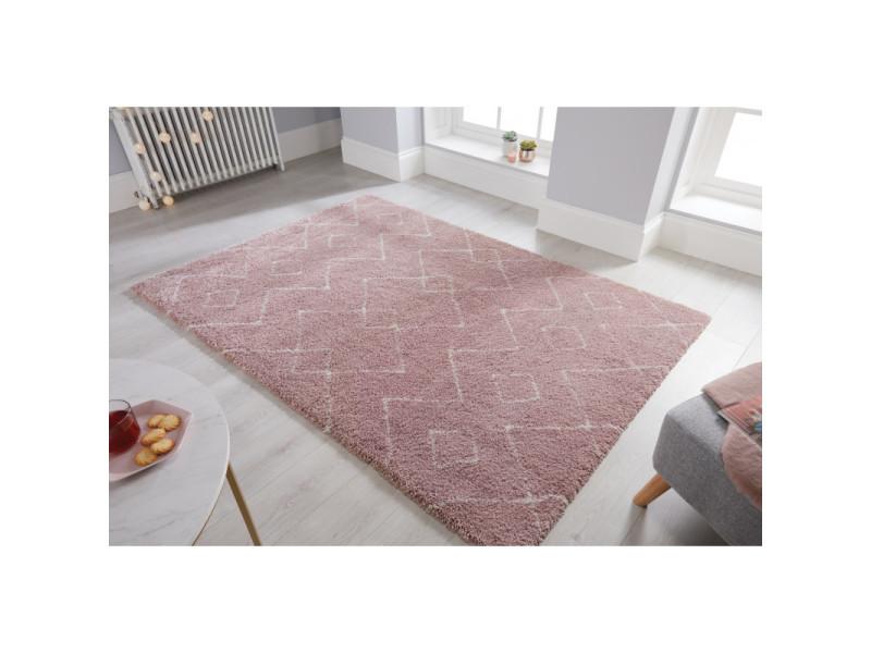 tapis design dakari imari rose et creme 120 x 170 cm