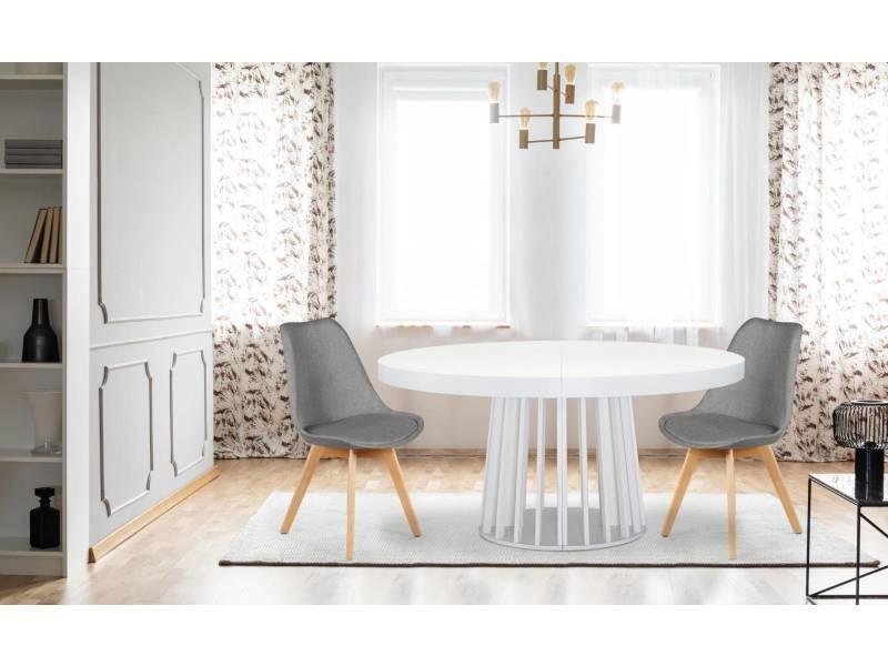 lot de 4 chaises scandinaves conor tissu gris