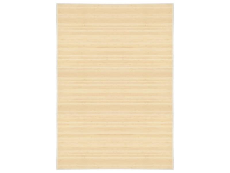 vidaxl tapis en bambou 160 x 230 cm naturel