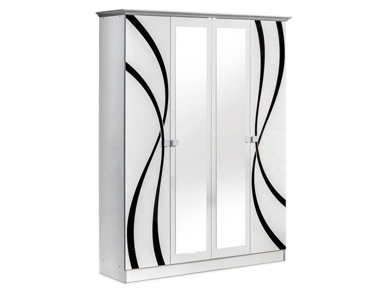 armoire blanche miroir