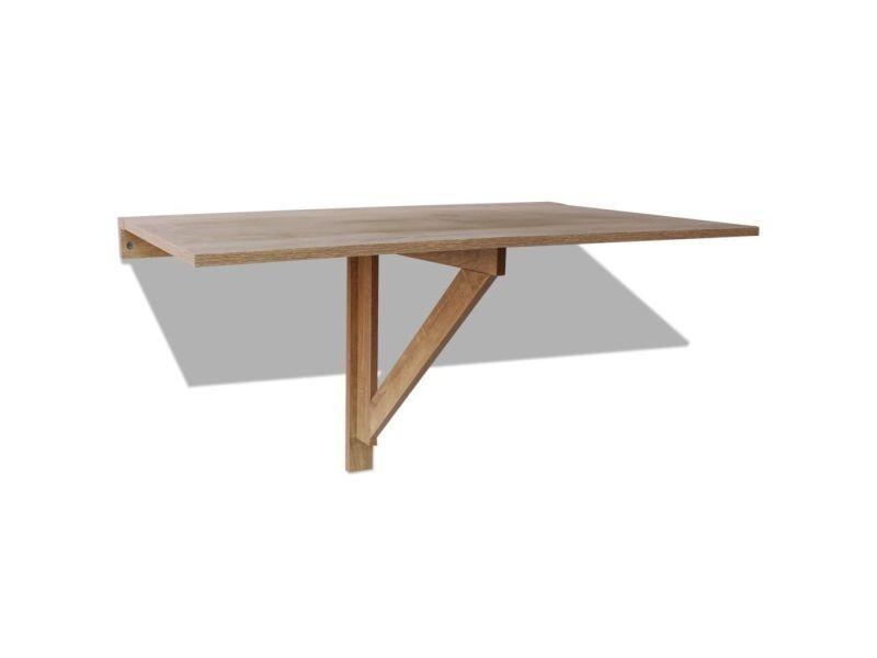icaverne tables pliantes serie table murale rabattable en chene 100 x 60 cm
