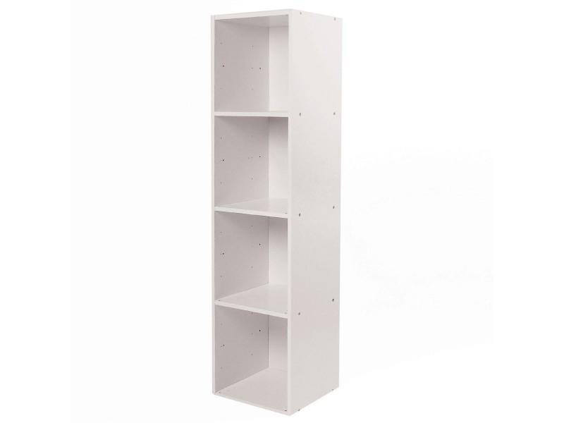 meuble 4 cases avec fond 32 x 30 x 125 cm